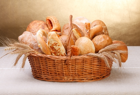 Vaus bakery products in basket Stock Photo - 16059606