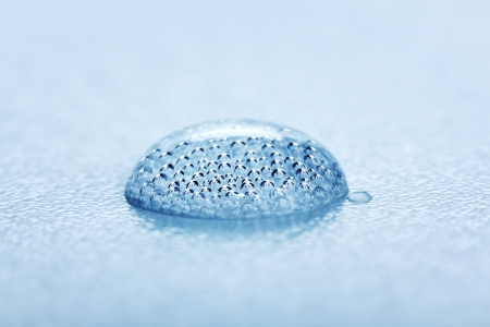 Carbon dioxide gas bubbles inside of mineral water drop Stock Photo - 17688132