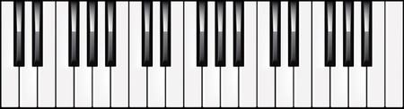 клавиатура: Векторная иллюстрация 3 октавы фортепианную клавиатуру
