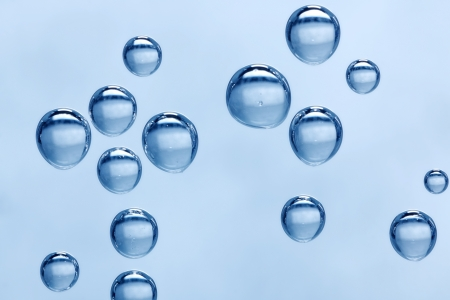 Macro of mineral water - carbon dioxide bubbles photo