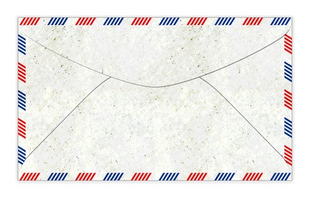 old fashioned: Old fashioned air mail envelope illustration with paper texture
