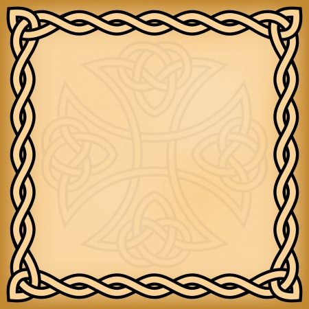 Celtic background with twisted frame and ornament watermark Stock Vector - 22519225
