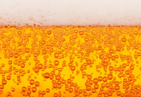 brew beer: Side view beer macro, horizontally seamless tiling Stock Photo