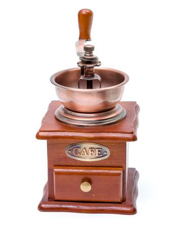 molinillo: Molinillo de caf� de madera en blanco