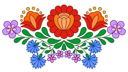 白で隔離伝統的なハンガリー民俗刺繍