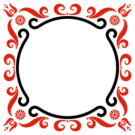 hungarian: Rounded frame with Hungarian motives decoration