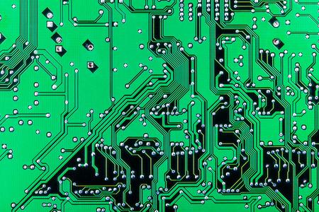 printed circuit board: Solder side of electronic printed circuit board