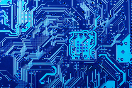 Solder side of electronic printed circuit board