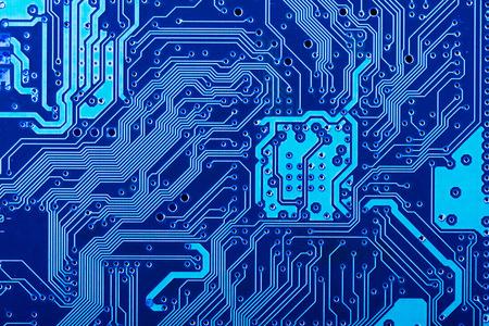 circuitos electronicos: Lado de la soldadura de la placa de circuito impreso electrónico Foto de archivo