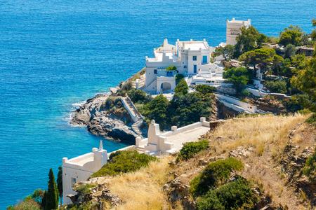 hotel: White hotels on the blue sea side on Ios island, Greece