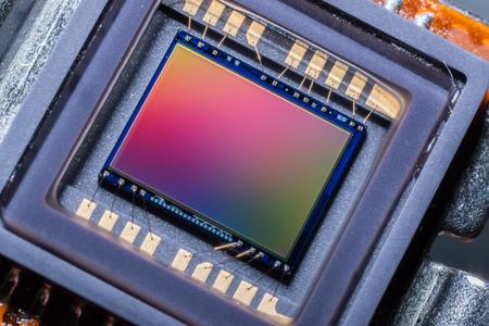 sensor: Macro of a digital camera photo sensor chip