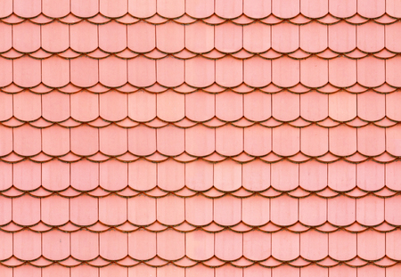 Seamless red roof tile texture background