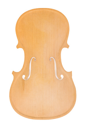 Raw violin body or belly isolated on white background Banque d'images