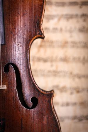 Violin waist detail with f-hole