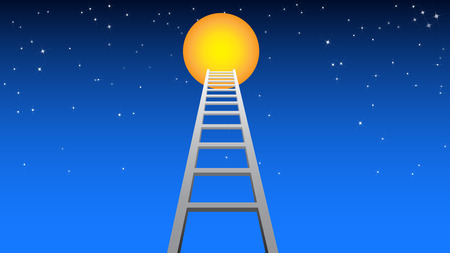 This ladder lead you to the moon.
