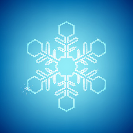 blink: white blink snowflake on the blue backgound