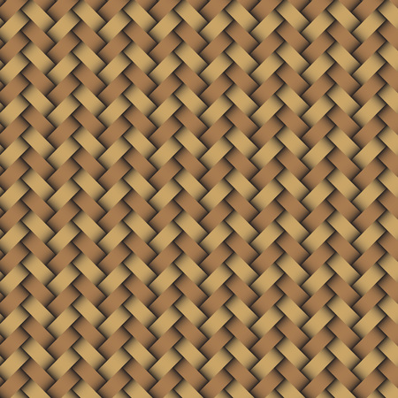 osier: Woven wood pattern in mordern style Illustration
