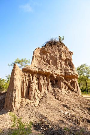 na: Sao Din Na Noi is a soil formation into strange shapes, Nan, Thailand