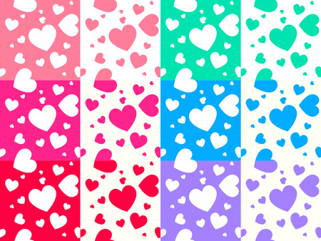 colorful heart: Colorful heart pattern on white background cute style
