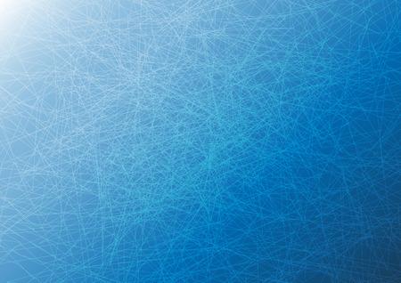 Chaos ligne d'intersection sur fond bleu