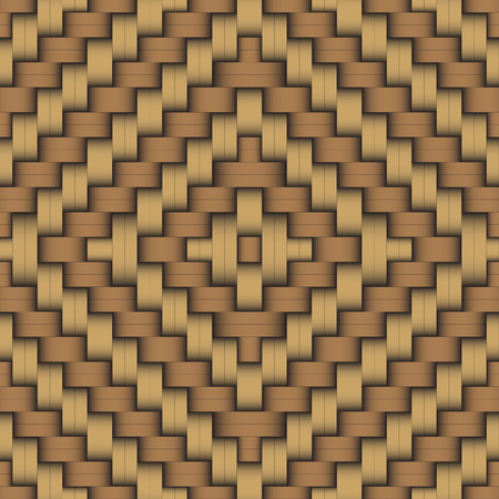 osier: Woven wood material pattern in modern style Illustration