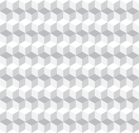 cubic: Cubic Seamless Pattern Background Greyscale Vector Illustration Illustration