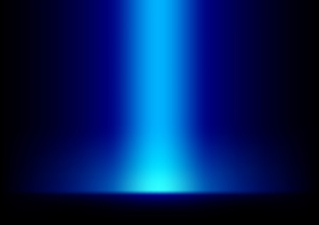 Blue Light from Top Background Vector Illustration