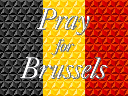 peacefulness: Pray for Brussels Belgium Vector Illustration
