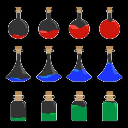pocion: Poci�n Botella Dise�o Plano Estilo Ilustraci�n Vector transparente Vectores