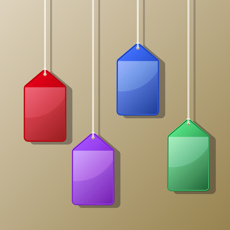 cling: Colorful Hanging Card Case Vector Illustration