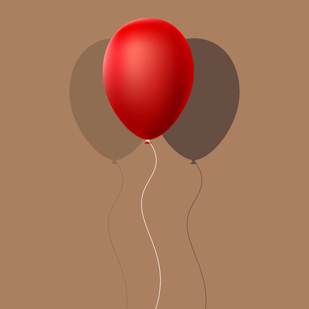 red balloon: Red Balloon with Shadow Vector Illustration EPS10