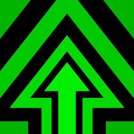 green and black: Up Arrow Background Green Black Illustration