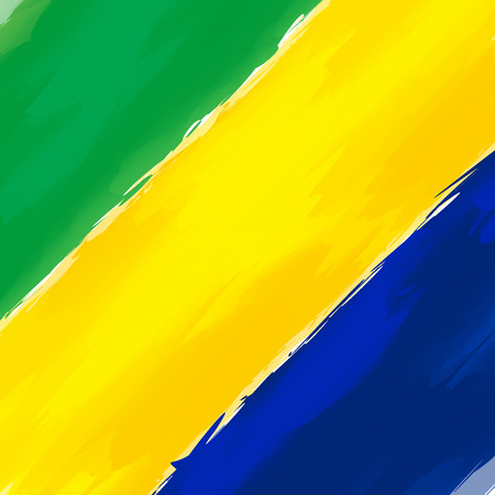 green yellow: Abstract Background Brazil Green Yellow Blue Illustration Illustration