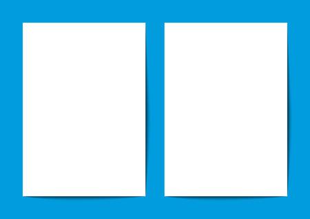 a4 background: Blank White A4 on Blue Background Illustration Illustration
