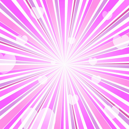 love explode: Abstract Love Heart Burst Ray Background Pink Illustration
