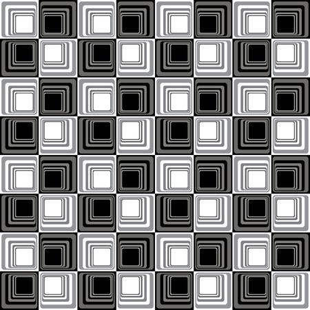 bw: Abstract Modern Illusion Seamless Pattern B&W Vector Illustration Illustration