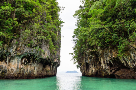 Koh Hong Island Krabi in Thailand Between the Rock Stock Photo