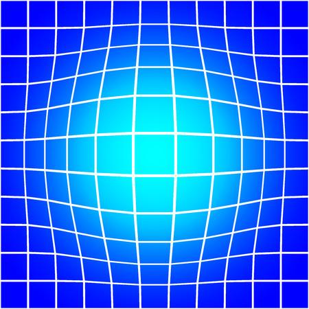 bloat: White Bloat Grid on Blue Background Seamless Pattern Vector Illustration