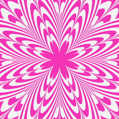 Illusion Pink Flower Abstract Background Vector Illustration