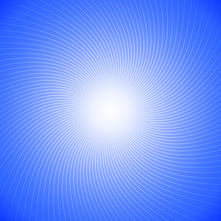 Abstract Twist Line on Blue Background Vector Illustration