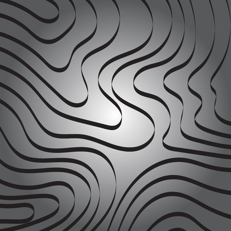 curve line: Abstract Curve Ribbon Line on Gray Background Vector Illustration