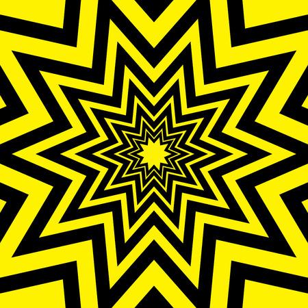 metalic texture: Black Yellow Warning Star Abstract Background Vector Illustration