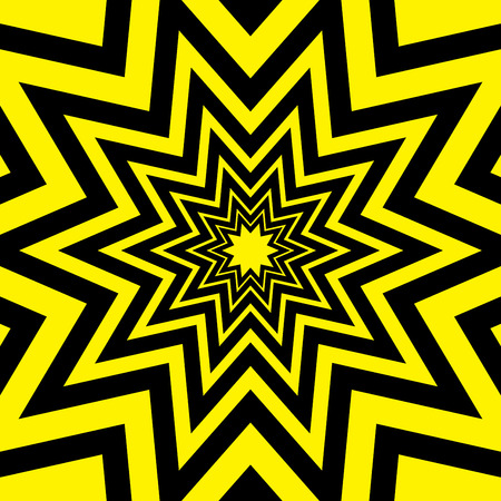 Black Yellow Warning Star Abstract Background Vector Illustration
