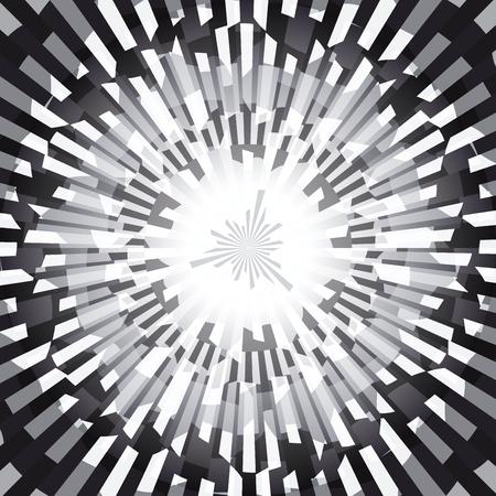 radial cracks: Black and White Burst Ray Abstract Background Vector Illustration Illustration