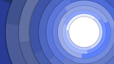 Blue Tone Color Stacked Circles in Modern Style with Copy Space Abstract Background Vector Illustration Çizim