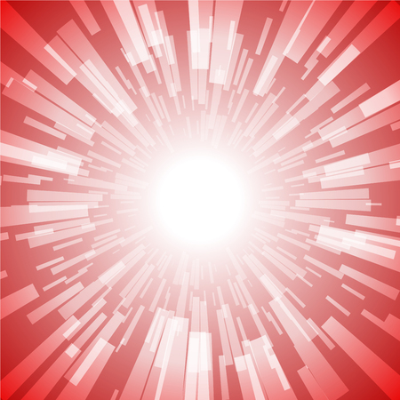 Red Burst Ray Light Stripe Vector Illustration