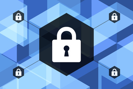 criminal: Blue Future Technology Internet Security Abstract Geometric Background