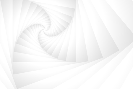 White Stack Spiral Tunnel Abstract Background Vector Illustration Illustration
