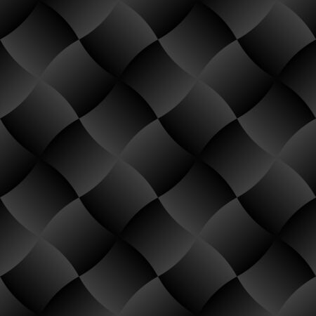 3D Black Curve Gradient Tile Seamless Pattern Background Vector Illustration
