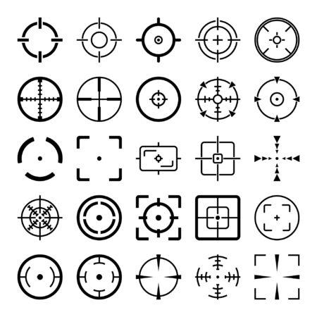 Crosshair Icon Set on White Background Vector Illustration Иллюстрация
